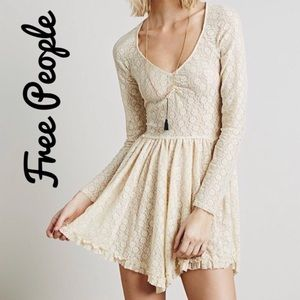 Free People Intimately Sheer Lace Slip Dress, S